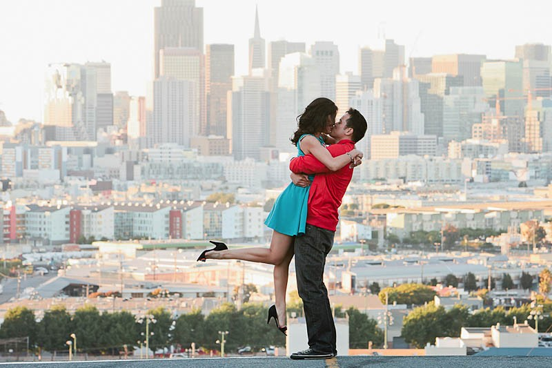 San Francisco Wedding Photographer Potrero Hill Engagement Session