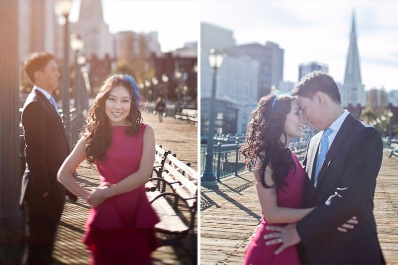 San Francisco Wedding Photographer Pier Engagement Session