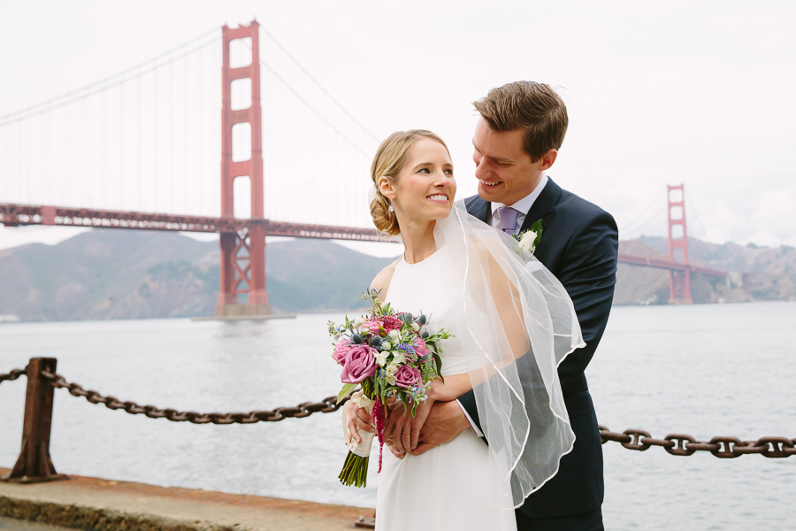 wedding photographer San Francisco, Golden Gate Bridge