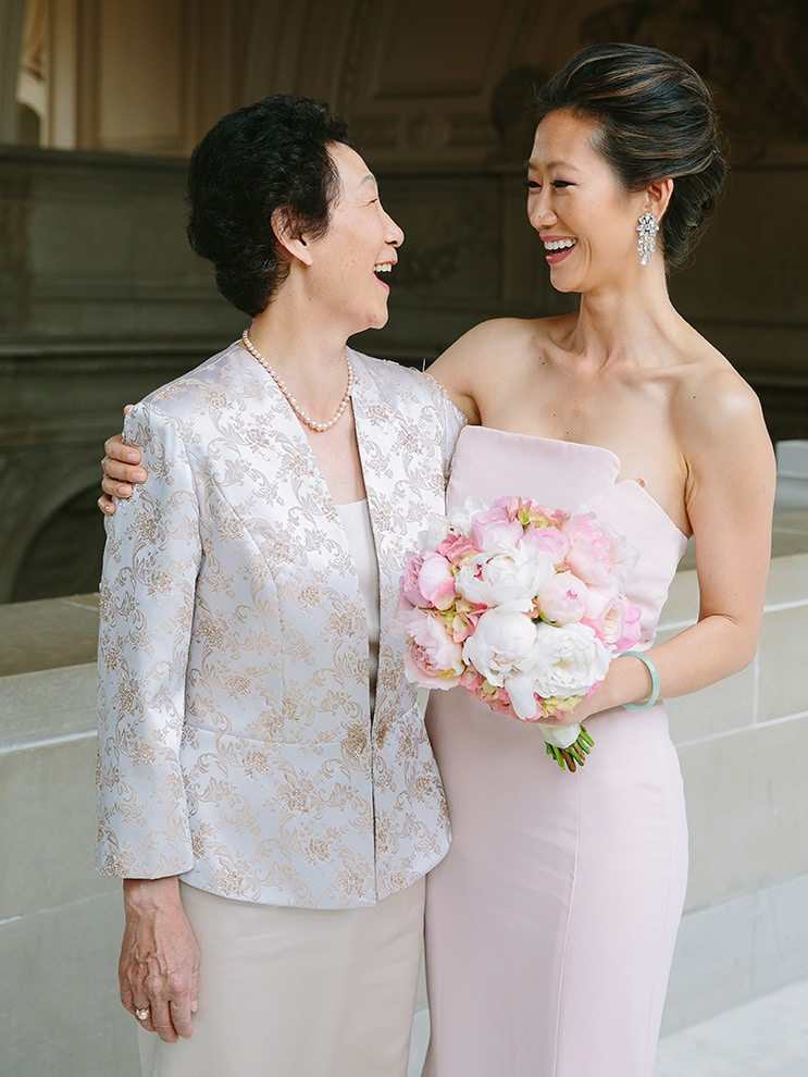 Mother and daughter at a San Francisco City Hall wedding