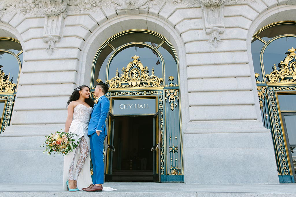 San Francisco City Hall LGBTQ+ wedding