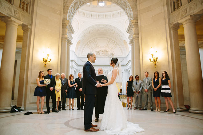 Wedding ceremony in the Rotunda of San Francisco City Hall