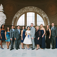 Family Portrait at San Francisco City Hall wedding